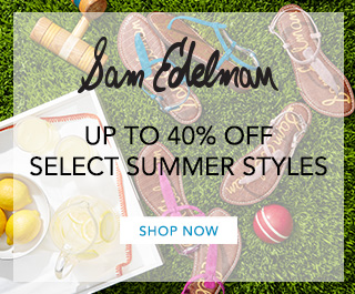 Sam Edelman Save up to 40% off select summer shoe styles